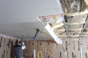 Étanchéité à l'air et faux plafond